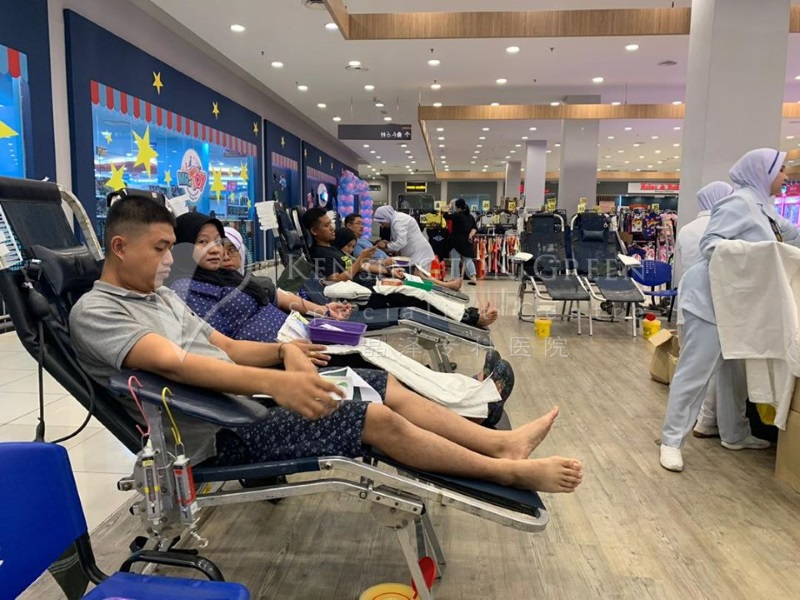 KGSC Blood Donation Drive At Tesco Bukit Indah